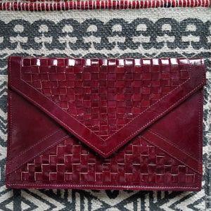 Vintage 70's Leather Envelope Clutch